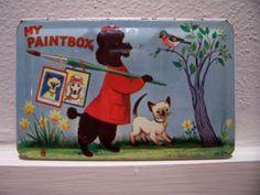 vintage poodle paintbox