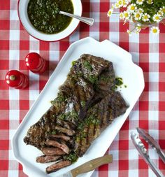 Wood-Grilled Skirt Steak With Chimichurri Sauce by Katy McLaughlin, wsj  Chimichurri_Sauce