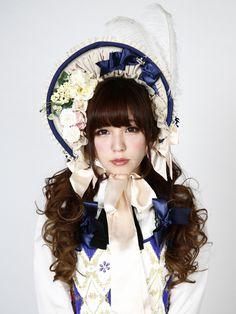 Triple Fortune / Rose ribbon bonnet [pink / free]