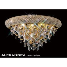 Diyas Alexandra French Gold Wall Light - W. Gold Wall Lights, Ceiling Lights, Crystal Wall, Gold Walls, Chandelier, French, Crystals, Lighting, Decor