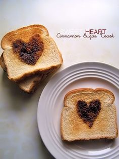 Sweet Heart Cinnamon Sugar Toast - recipe and how to!