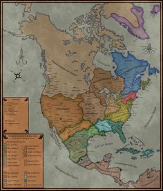 Mexico Map 1850   Mexico Unit Study   Pinterest A map of an alternate North America  called Hesperia  that was discovered  1295 AD