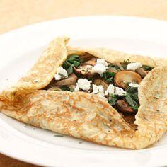 Crepas de hongos y espinaca. Receta vegetariana baja en calorías http://clubvive100.com/crepas-de-hongos-y-espinaca-receta-vegetariana-baja-en-calorias/ Club Vive100