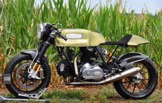 Amazing high performance retro cafe racer custom Ducati motorcycle