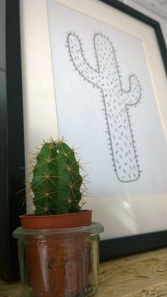 Kaktus-Print zum Herunterladen und Ausdrucken