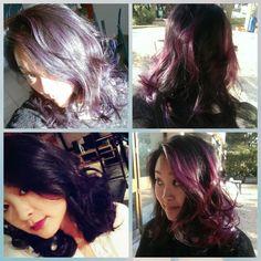 Ombre hair violet avec différentes nuances selon la lumière! j'adore! Merci au Cercle des Coiffeurs d'Aubagne  😍