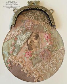 beautiful purse in crazy quilting