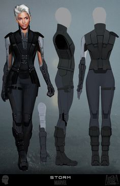 Storm costume design for X-Men: Days Of Future Past concept art by Joshua James Shaw.