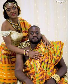 Kente Fabric Designs: See These Kente Styles For Fashionable Ladies - Lab Africa African Wedding Attire, African Attire, African Wear, African Fashion Dresses, African Women, African Outfits, Ghana Traditional Wedding, African Traditional Wedding Dress, Ghanian Wedding