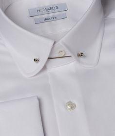 Chemise cintrée pin collar oxford blanc poignets mousquetaires Chemise  Cintrée, Chemise Homme, Chemisier, d2ac40614d3d