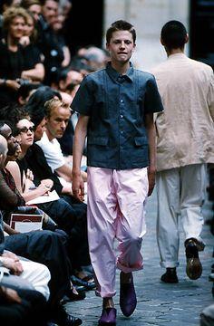 Comme des Garcons Homme Plus - StyleZeitgeist White Fashion, Runway, Vintage Fashion, Button Down Shirt, Men Casual, Menswear, Mens Tops, Shirts, Inspiration