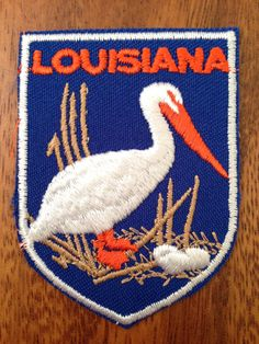 Louisiana Vintage Travel Patch by Voyager