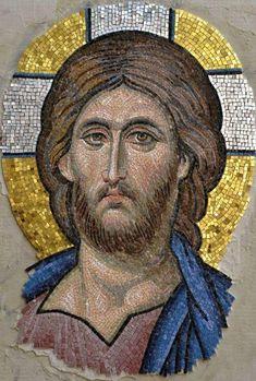 Religious Images, Religious Icons, Religious Art, Byzantine Art, Byzantine Icons, Tile Art, Mosaic Art, Anima Christi, Christ Pantocrator