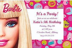 Barbie birthday invitations free - Motorcycle Pictures