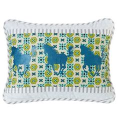Delectably-Yours.com Solado Embroidered Horse Pillow by HiEnd Accents