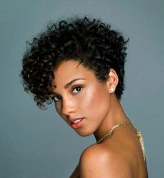 New short hairstyles for black curly pixie, curly bob, short curly hair black Short Curly Pixie, Curly Pixie Hairstyles, New Short Hairstyles, Short Curly Haircuts, African Hairstyles, Black Women Hairstyles, Hairstyles 2018, Short Bangs, Alicia Keys Hairstyles