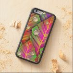 Vibrant Neon Cute Tropical Trendy Modern Monogram Carved® Maple iPhone 6 Bumper Case