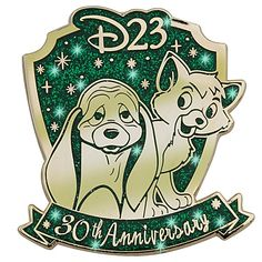 D23 Membership Exclusive 30th Anniversary The Fox and the Hound Pin