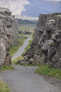 Pingvellir (Thingvellir) National Park in Iceland's Golden Circle is a rift valley between the North American and Eurasian tectonic plates. http://www.traveladdicts.net/2010/11/golden-circle-iceland.html#more