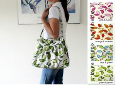 Summer Fashion / Daphne Leaves Pleated Bag / Zipper by bayanhippo, $35.00