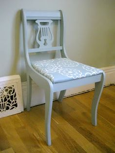 Lather. Write. Repeat.: Before and After: Lyrical Blue Harp Back Chair