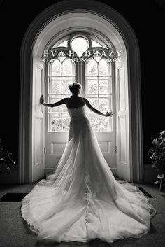 Beautiful black and white bridal photo