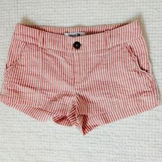 Pink & white striped shorts Pink and white striped shorts in perfect condition.  Size XS but run a little large.  Not Brandy Melville, just for exposure  Brandy Melville Shorts