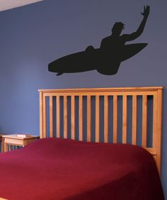 Vinyl Wall Decal Sticker Surf Trick #OS_AA1231 | Stickerbrand wall art decals, wall graphics and wall murals.
