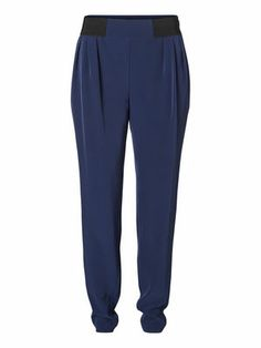 HALEY WANTSO NW PANT #veromoda #trousers #blue #loose #fashion @Veronica MODA