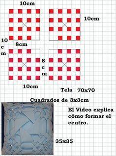 grafico del cojin remolino en capitone