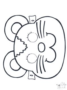 Maske Maus - Basteln Masken