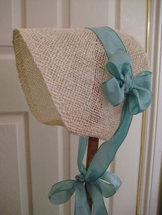 Sombrero paja regencia. Jane Austen. Auténtico por RegencyRegalia