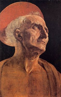 """Andrea del Verrocchio - St Jerome (1465) - WGA24997 - Palazzo Pitti - Wikipedia Vasari - """"...began to seek to make their figures with more study, as to reveal in them better draughtsmanship, with a degree of imitation more correct and truer to nature, nevertheless the whole was not there yet..."""""""
