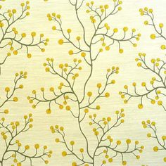 accent pillow - art deco tree of life silk fabric - lemon