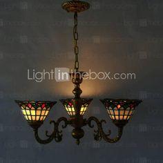 Lámpara Chandelier con 3 Bombillas - ORMSKIRK