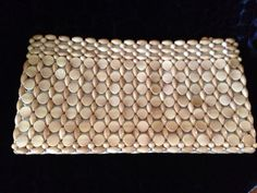 Lovely Wood Beaded Clutch Purse by SylviasFinds on Etsy, $20.00