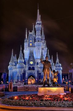 I've already been to Disney World, but I want to go when it's not raining and when the castle looks like this!