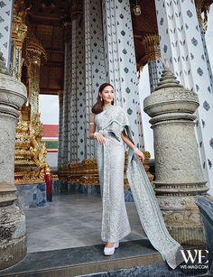 Cambodian Wedding Dress, Thai Wedding Dress, Wedding Attire, Wedding Outfits, Thai Traditional Dress, Traditional Wedding Dresses, Traditional Outfits, Thai Brides, Thailand Fashion