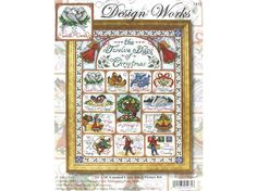 """Design Works 14"""" x 18"""" Twelve Days of Christmas Counted Cross Stitch Picture Kit 