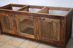 Rustic Bathroom Vanities made from antique's | ... Custom Made Rustic Barn Wood Double Vanity ... | Rustic Master