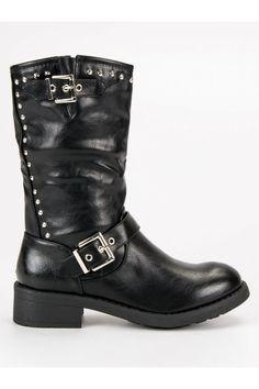 Vysoké topánky čižmy workery v čiernej farbe SDS Biker, Platform, Shoes, Fashion, Moda, Zapatos, Shoes Outlet, Fashion Styles, Shoe