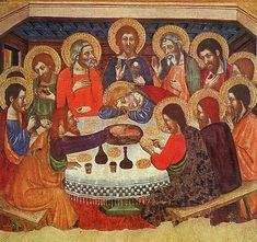 The upper room. The last supper. Maundy Thursday.