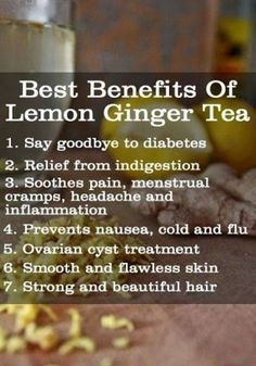 Who makes Lemon Ginger Tea here?  Try making some today and see its benefits for your health