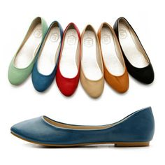 NEW Womens Shoes Ballet Flats Loafers Basic Light Low Heels Cute Multi Colored $16.99