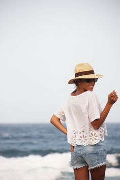 Panama Hats. Saw this on Jessica alba once and am so glad I know what it's called now!