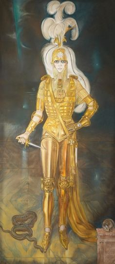 Alberto Martini.  La marchesa Casati come Cesare Borgia, 1925 Pastello, 280 x 125 cm  -Collezione privata Audouy