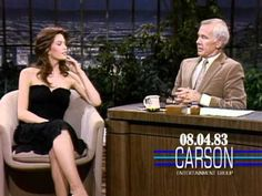 """Diane Lane Talks About Her Birthday on """"The Tonight Show Starring Johnny Carson"""" — 1983 Here's Johnny, Johnny Carson, Kay Parker Taboo, Hollywood Glamour, Hollywood Actresses, Here Comes Johnny, Late Night Comedians, Latest Comedy, Late Night Talks"""