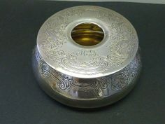 Gorham Victorian Hair Receiver BOX Sterling Silver Vanity CD Peacock 7.4oz FCG #GorhamWhiting #GorhamWhiting