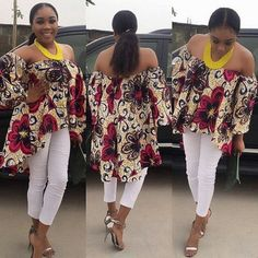 Online Hub For Fashion Beauty And Health: Fabulous Off Shoulder Ankara Blouse For The Cute M...