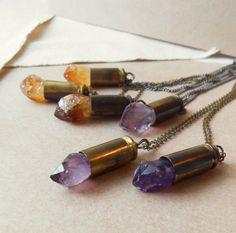 $28- (amethyst) pendant necklace by ohjoranne on Etsy